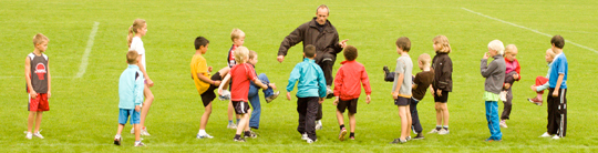 Der trænes to gange om ugen blandt børnene i FIFH